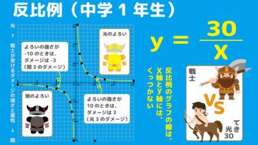 中1数学の先取り関数④|中1の反比例もファンタジーでザックリ説明