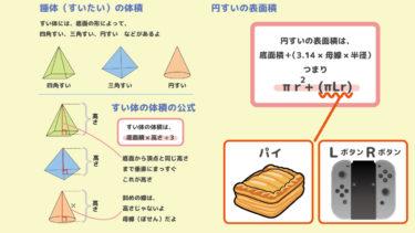 中1数学|すい体の体積と円すいの表面積|数学検定5級