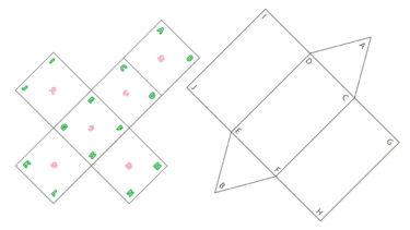 サイコロと三角柱の切って使う展開図|小5算数|算数検定7級
